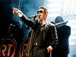 Robin Thicke performs at the Theater at Madison Square Garden on March 7, 2014.