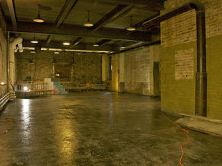 Jackalope Theatre Company's new space inside Broadway Armory Park prior to buildout