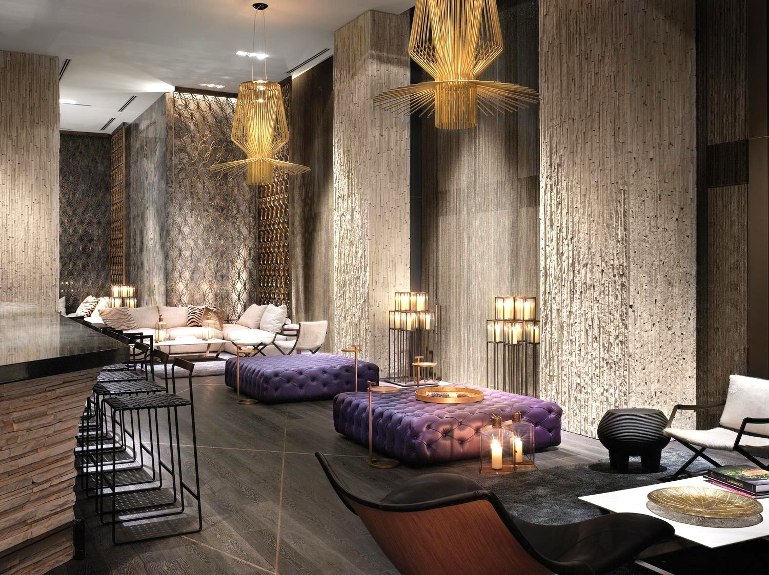 Living room bars in south beach miami for Art hotel design