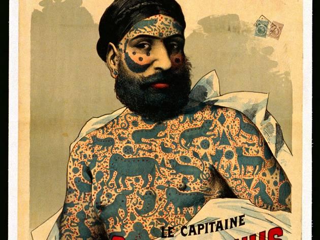 (Le capitaine Costentenus tatoué par l'ordre de Yakoob-Beg, France, XIXe siècle / © Fonds Dutailly, Ville de Chaumont)