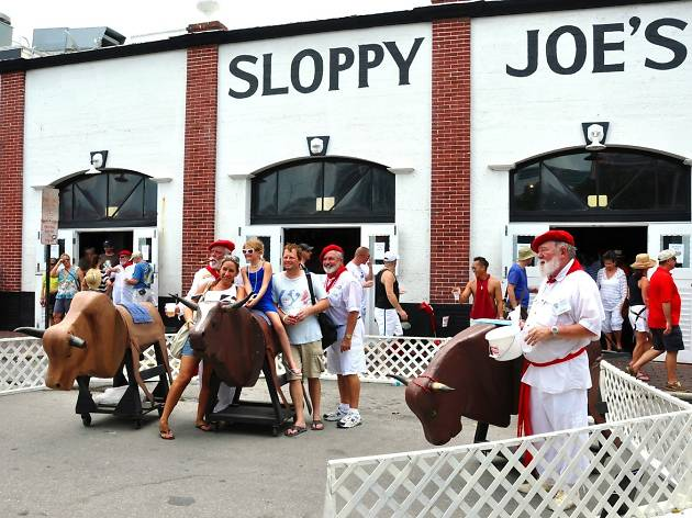 Visit Hemingway's favorite dive, Sloppy Joe's