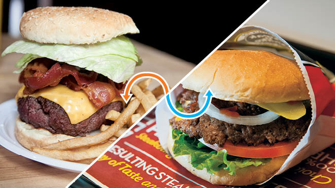 Burger: Corner Bistro / Steak 'n Shake Signature