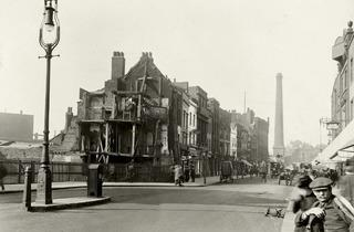 CA Mathew ('Looking north on Norton Folgate towards Shoreditch High Street', 1912)