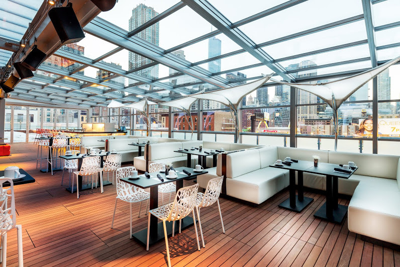 I|O Urban Roofscape's outdoor lounge at The Godfrey Hotel Chicago
