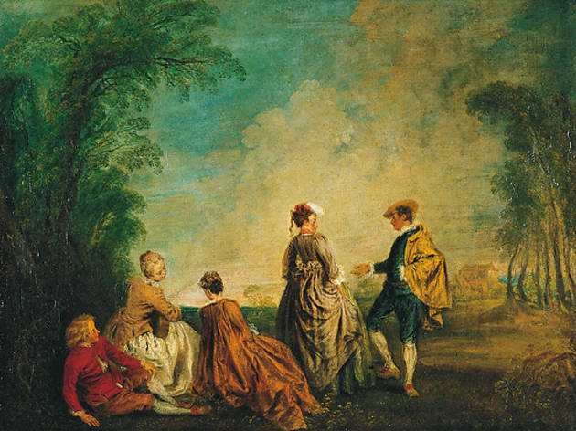 (Antoine Watteau, 'La Proposition embarrassante', c. 1715-1720 / Photo : © The State Hermitage Museum / Vladimir Terebenin)