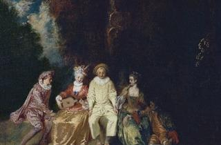 (Antoine Watteau, 'Pierrot content', c. 1712-1713 / © Museo Thyssen-Bornemisza, Madrid)