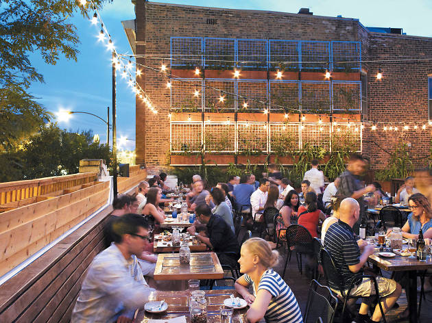 Homestead is one of the best rooftop restaurants in Chicago.