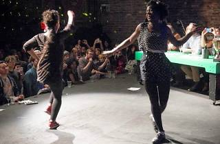 Danise Prescott, Michelle Cable and Sascha Lewis at Brooklyn Bowl