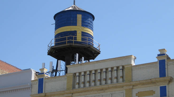 Swedish-American Museum water tower