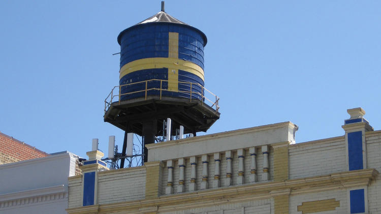 Swedish-American Museum water tower