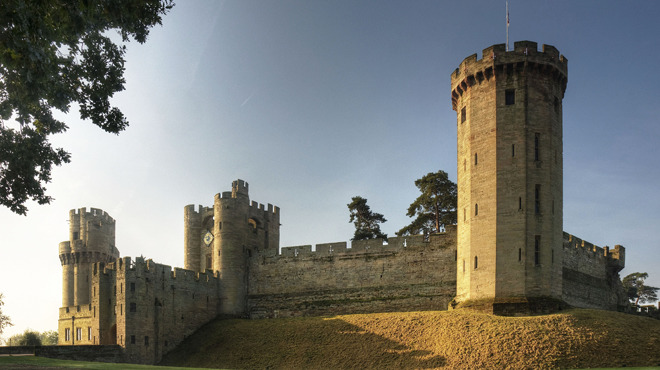 Warwick Castle East Front, Stratford upon Avon