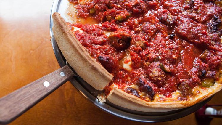 Deep Dish Pizza at Emmett's