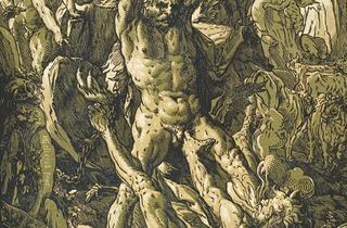 Hendrick Goltzius  ('Hercules Killing Cacus', 1588 )