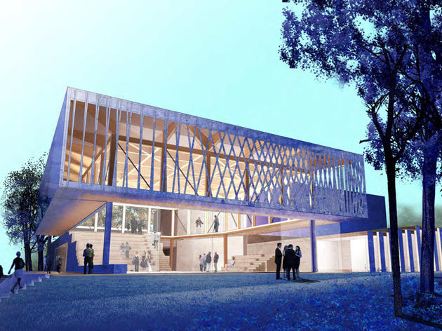 Studio Gang Architects rendering of new Writers Theatre facility