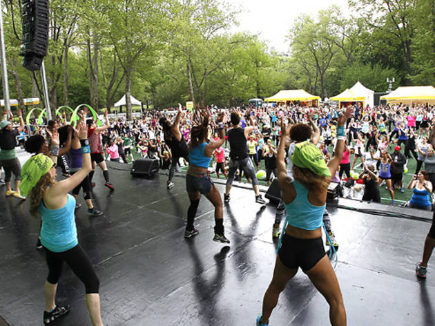 SELF Magazine's Workout in the Park