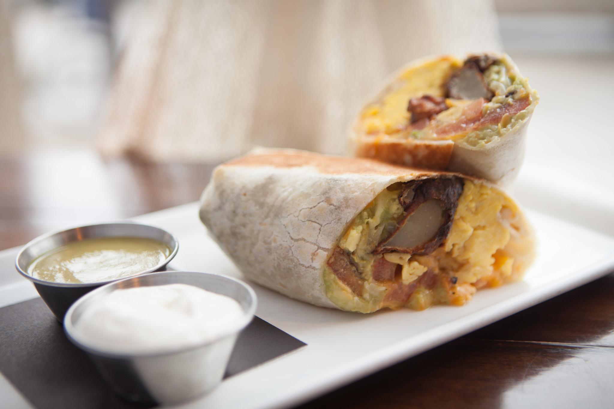 Breakfast burrito at Lula cafe.