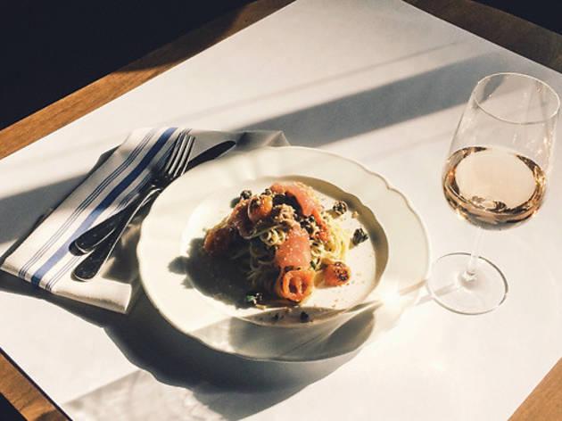 Spaghetti nicoise at Lafayette
