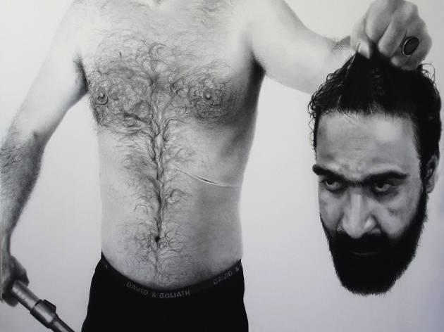 (Mitra Farahani, 'D & G', 2011 / Fusain sur toile / Collection particulière / © Mitra Farahani)