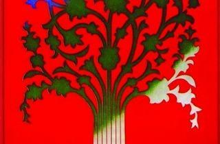 (Affiche du 9e Festival des Arts de Shiraz- Persepolis, 1975 / Conception graphique, Momayez)