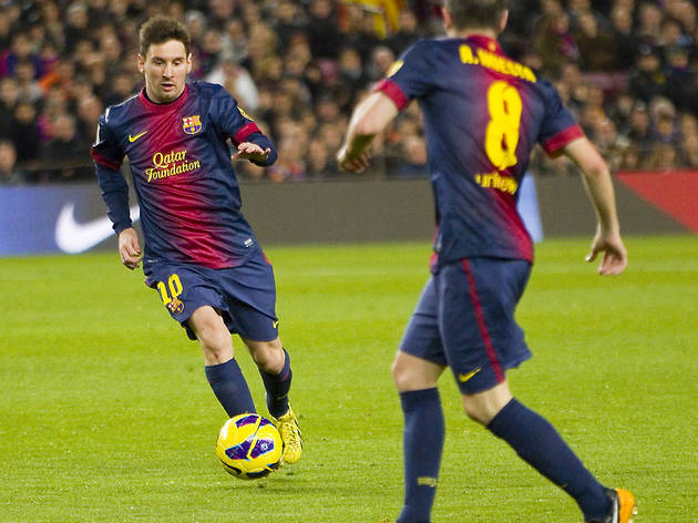 Messi i Iniesta. FC Barcelona