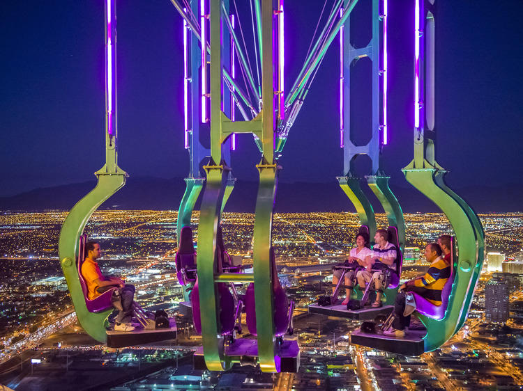Sky Jump, Big Shot, X Scream and Insanity at the Stratosphere
