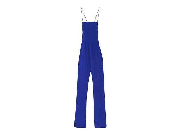 Nasty Gal After Midnight blue jumpsuit, $98, at nastygal.com