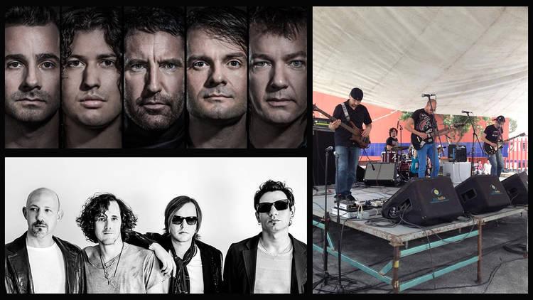 Jueves 27 (Fotos: Cortesía Vive Latino. (De arriba abajo, y de izq. a der. Nine Inch Nails, Zurdok, Komodo))