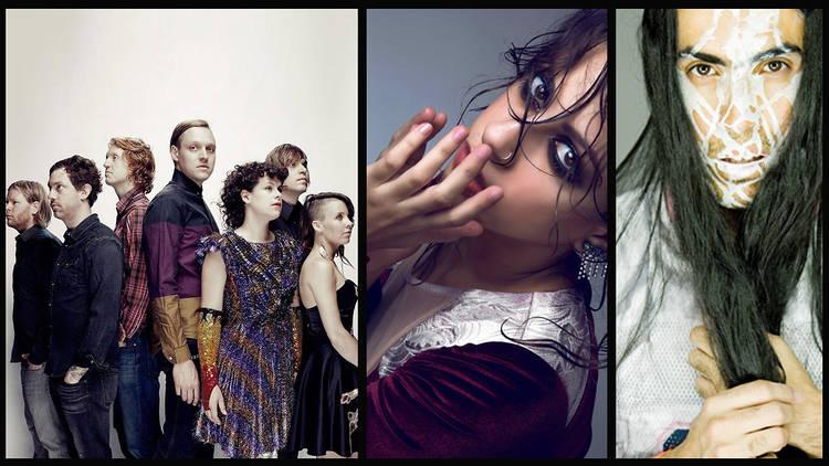 Viernes 28 (Fotos: Cortesía Vive Latino. (De izq. a der. Arcade Fire, Mooi, Dani Umpi))