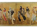 Unknown Artist, Cherry Blossom Viewing Picnic, circa 1624-44 (Edo period)