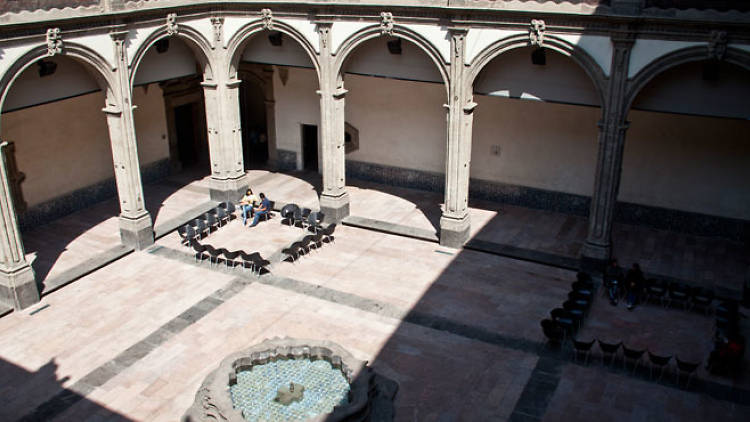 Patio del Museo Interactivo de Economía (MIDE)
