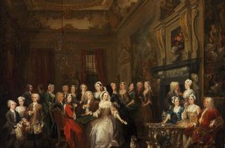 William Hogarth ('An assembly at Wanstead House', 1728-31)