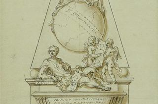 William Kent (Design for the monument to Issac Newton at Westminster Abbey, London, 1727)