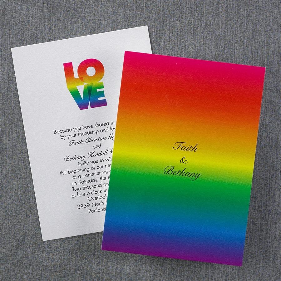 gay pride wedding invintations