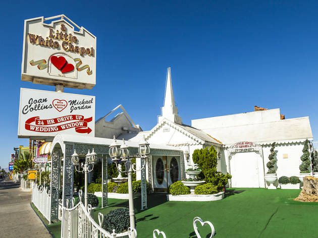 A Little White Wedding Chapel Shopping In Downtown Las Vegas