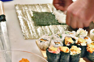 Sushi-making class & sake at Nobu