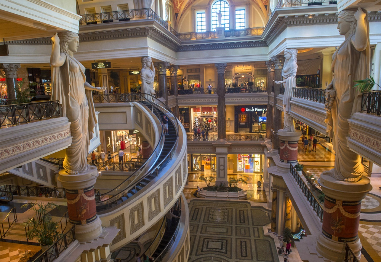Go on a shopping spree in Caesars Palace