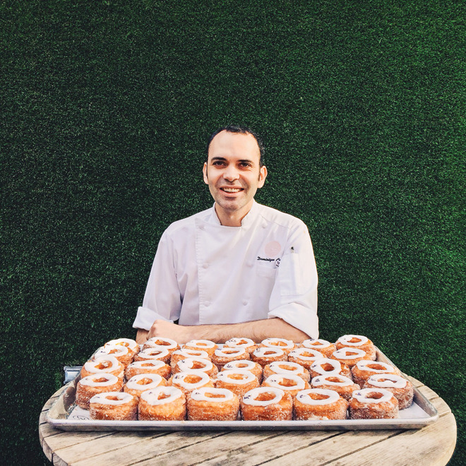 Dominique Ansel with his famous Cronuts