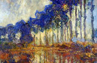 (Claude Monet, 'Les Peupliers, automne', 1891 / © Christian Baraja / Service  presse / musée Marmottan Monet)