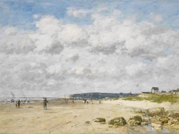 (Eugène Boudin, 'Bénerville. La Plage', 1890 / DR / Service  presse / musée Marmottan Monet)