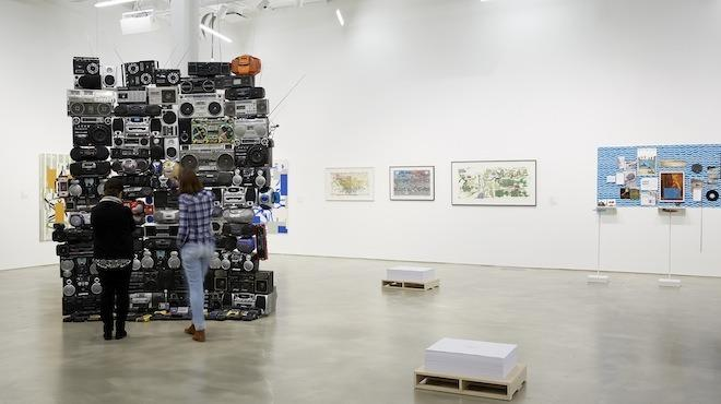 "Installation view of ""Art Into Music"""
