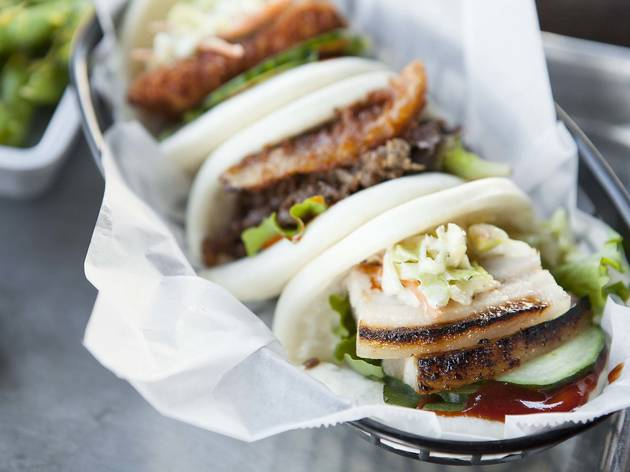 Pork BBQ bao bun at The Bun Shop