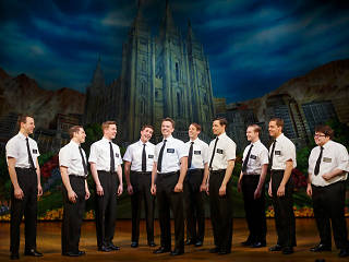 The current touring cast of The Book of Mormon
