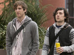 Thomas Middleditch as Richard and Josh Brener as Big Head in Silicon Valley