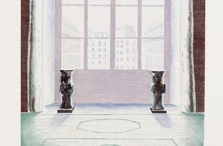 David Hockney (' Two Vases in the Louvre', 1974)