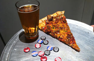 Dimo's Flamin' Hot Daenerys Slice at Revolution Brewing's C2E2 Galaxy Hero Relaunch Party