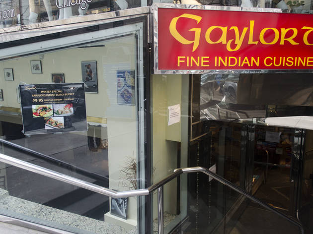 Gaylord Indian Restaurant, located at 100 E Walton St.