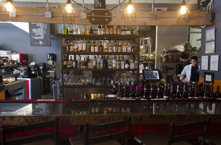 La Macchina Cafe. Located at 1620 Orrington Avenue, Evanston IL.