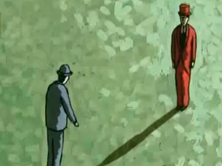 """""""The Man with No Shadow"""" (Georges Schwizgebel, 2004)"""