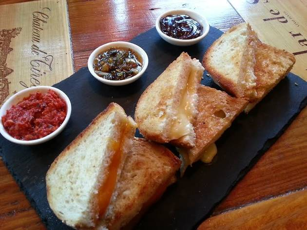 Bar Pastoral celebrates Grilled Cheese Month with a $12 sandwich flight.
