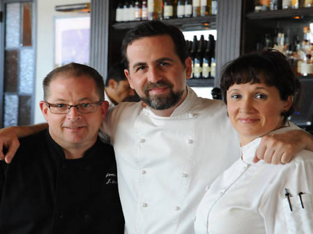 Chefs Scot Jones, Tal Ronnen and Serafina Magnussen